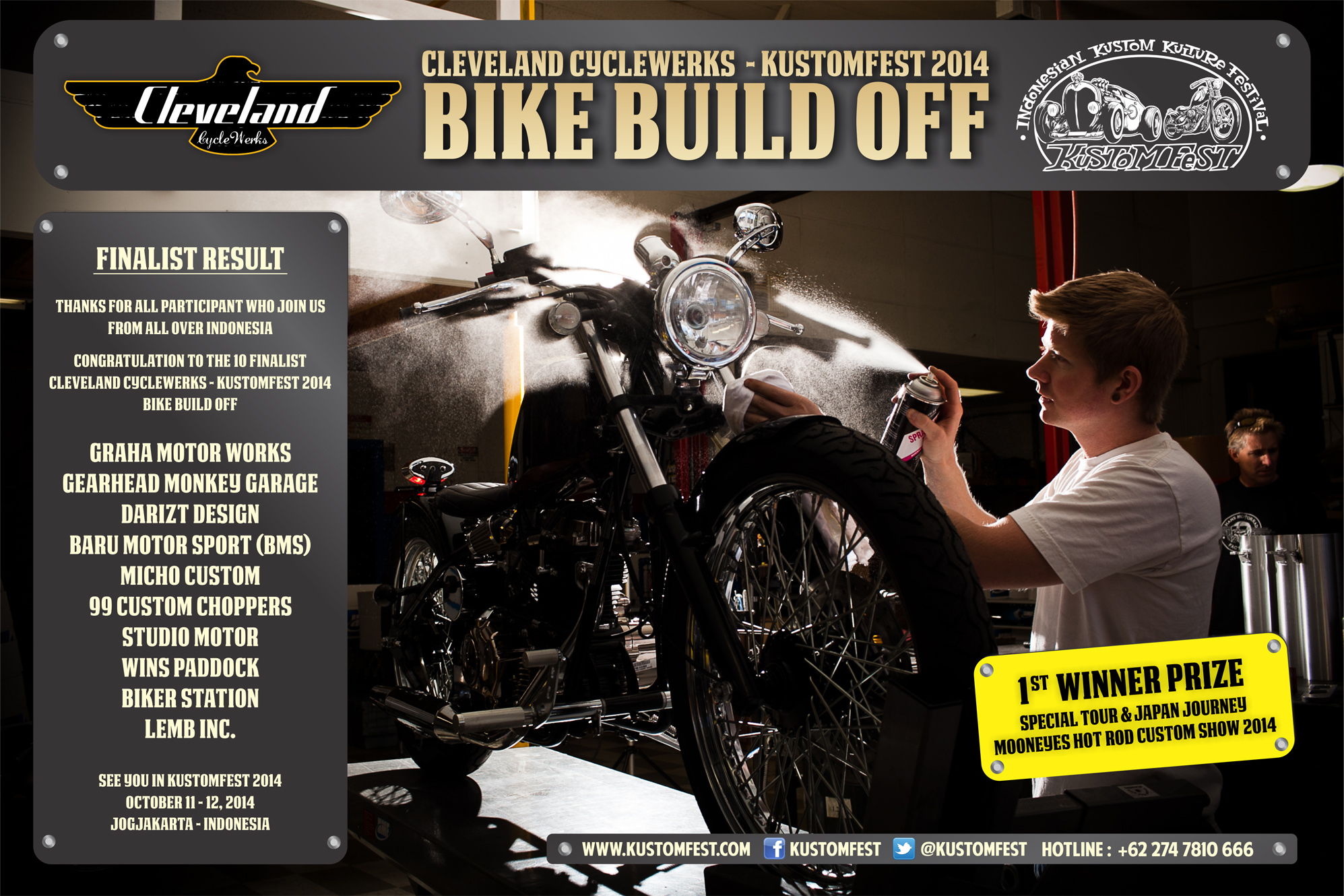 Cleveland CycleWerks Kustomfest 2014 Bike Buildoff