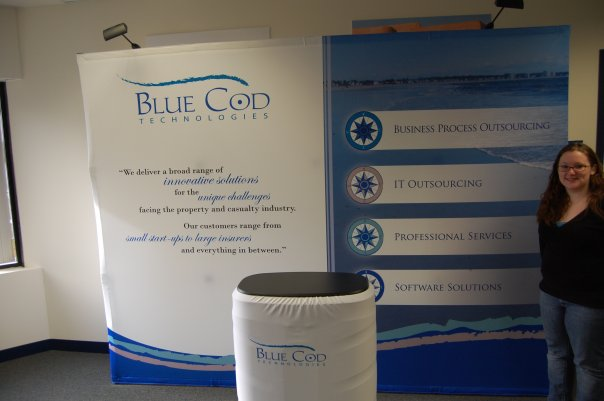 While at Blue Cod, my first tradeshow booth design.