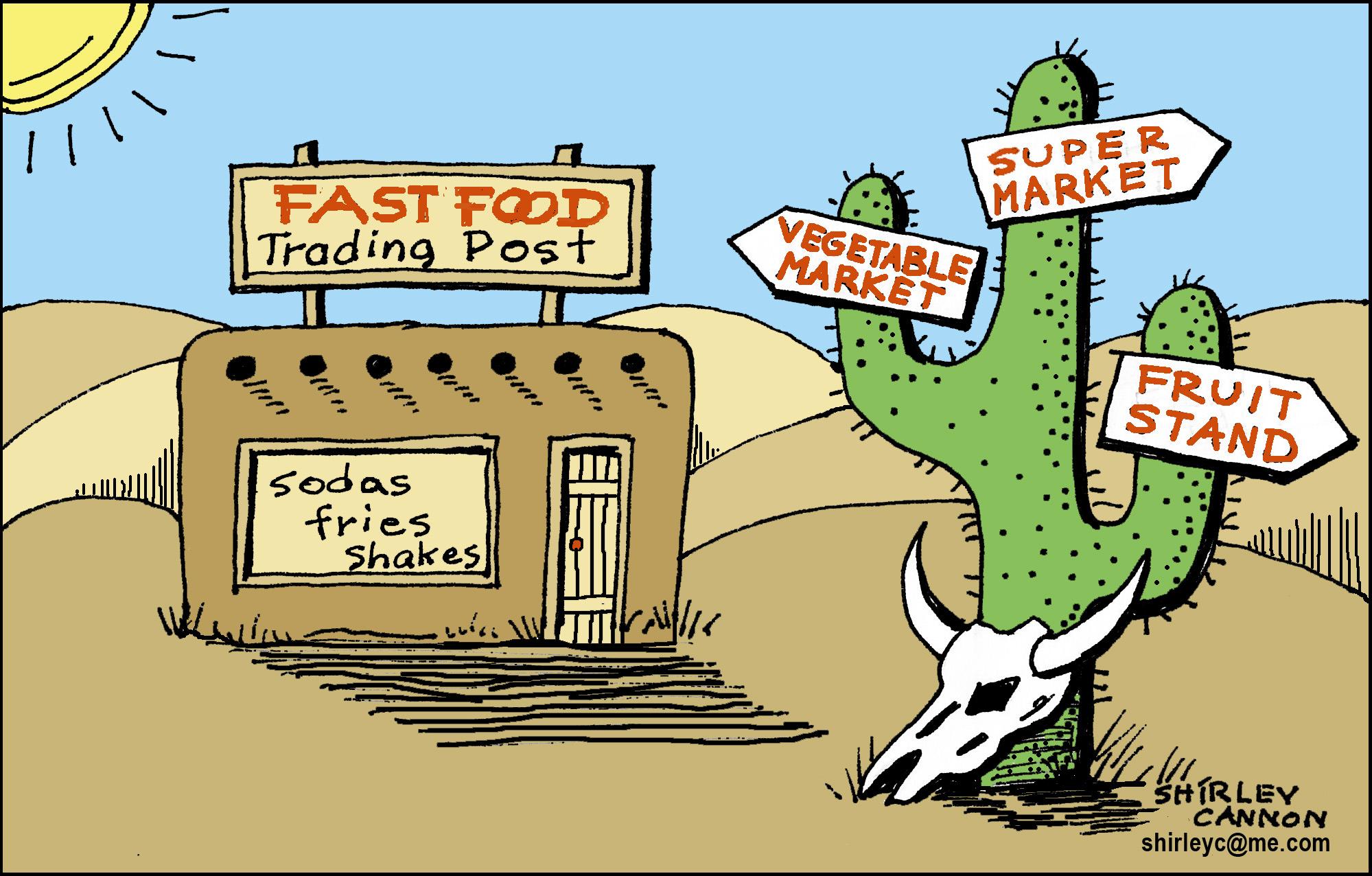 You have entered a food desert.