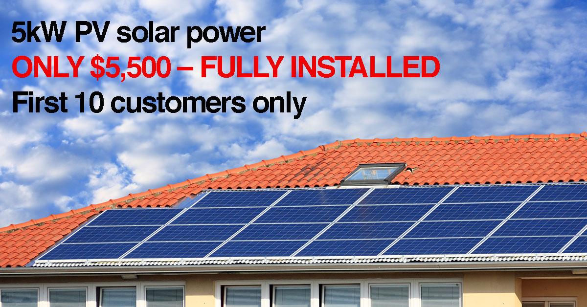 5kw solar power brisbane offer for Ozbargain