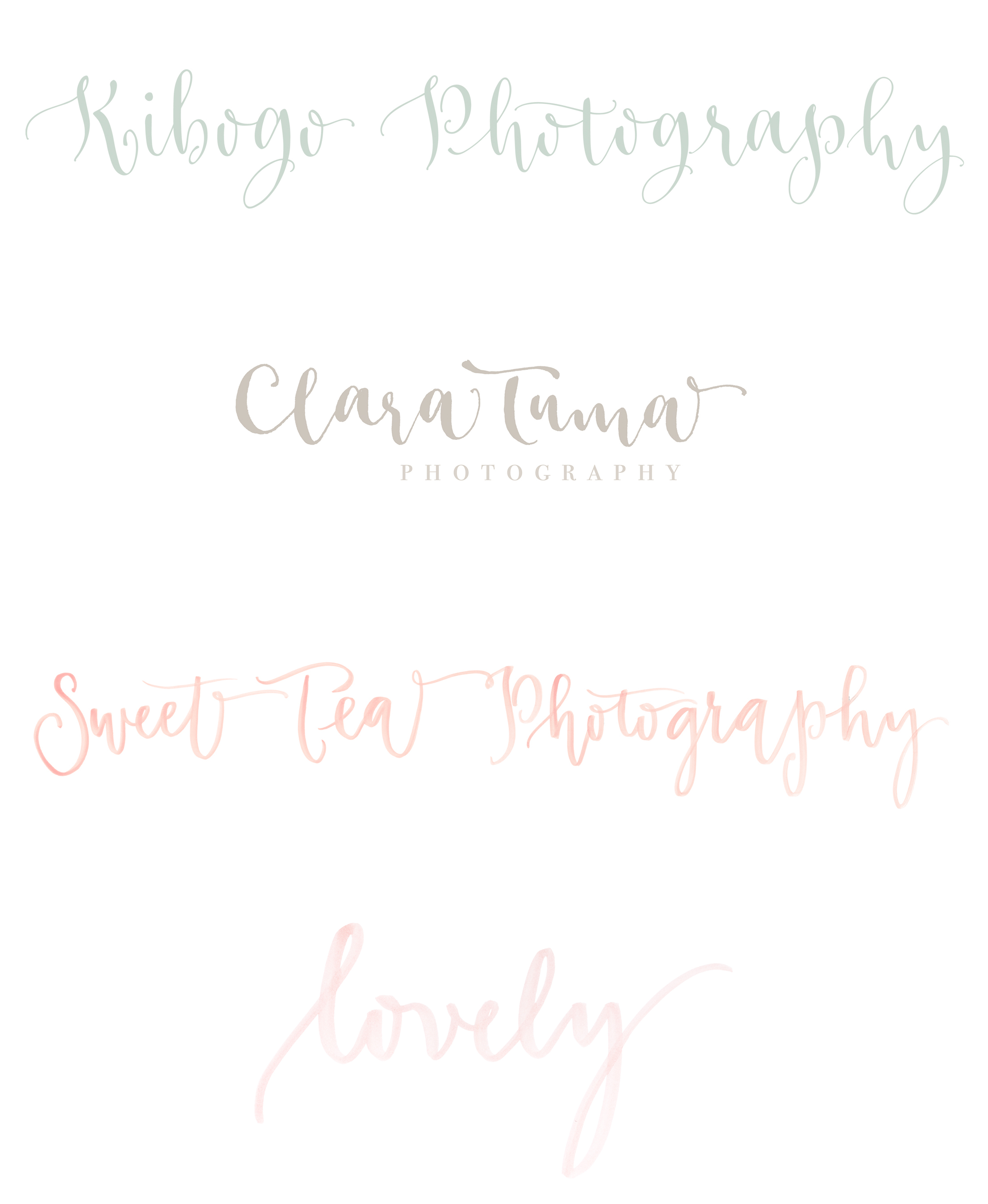 Custom logo design in modern calligraphy and lettering