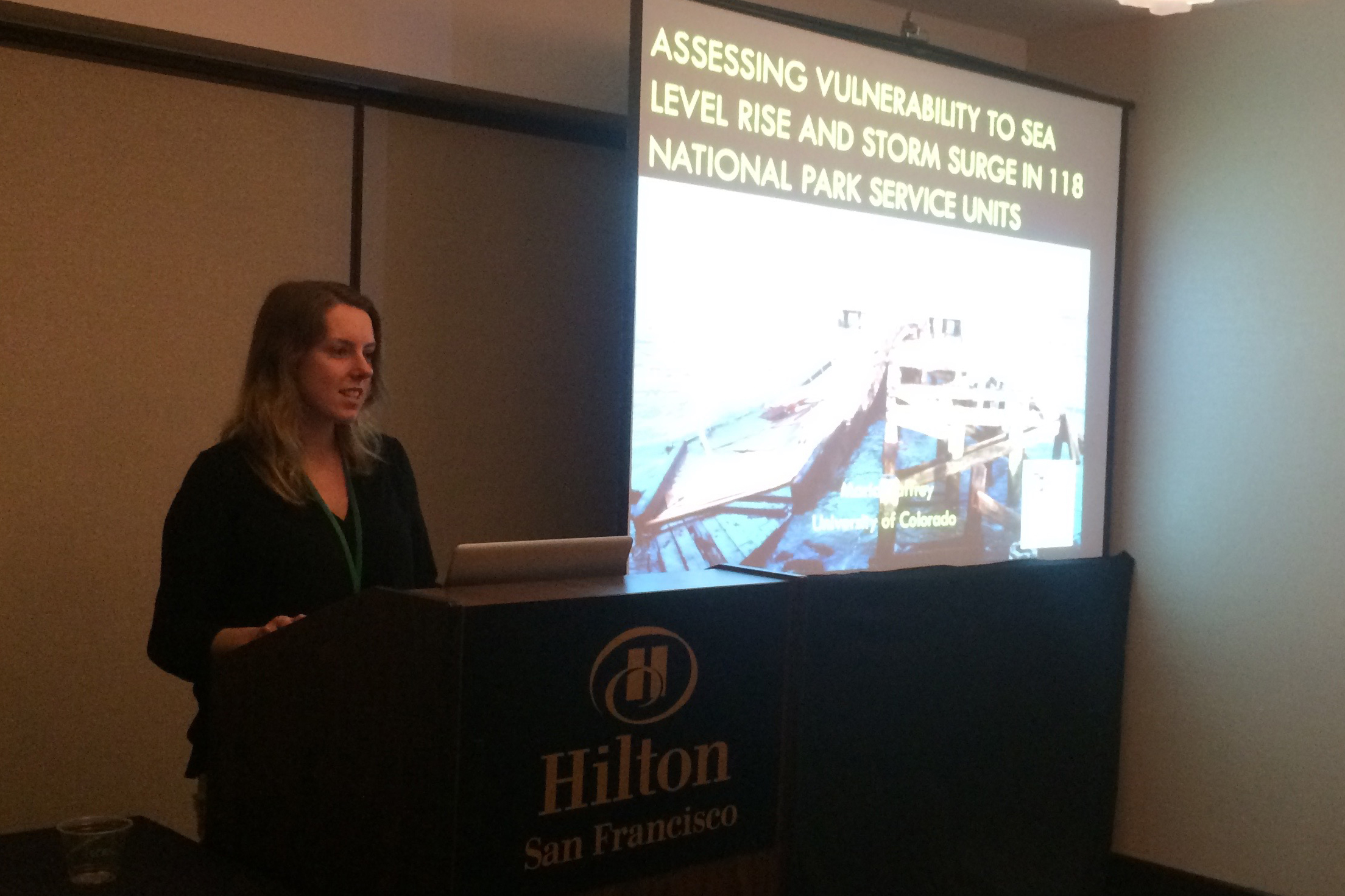 Presenting my paper at AAG 2016. Photo credit: Patrick Gonzalez.