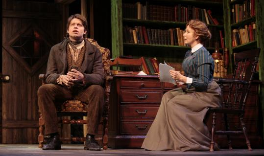"""Kate Burton and Morgan Ritchie, """"The Corn is Green"""" at Huntington Theatre"""