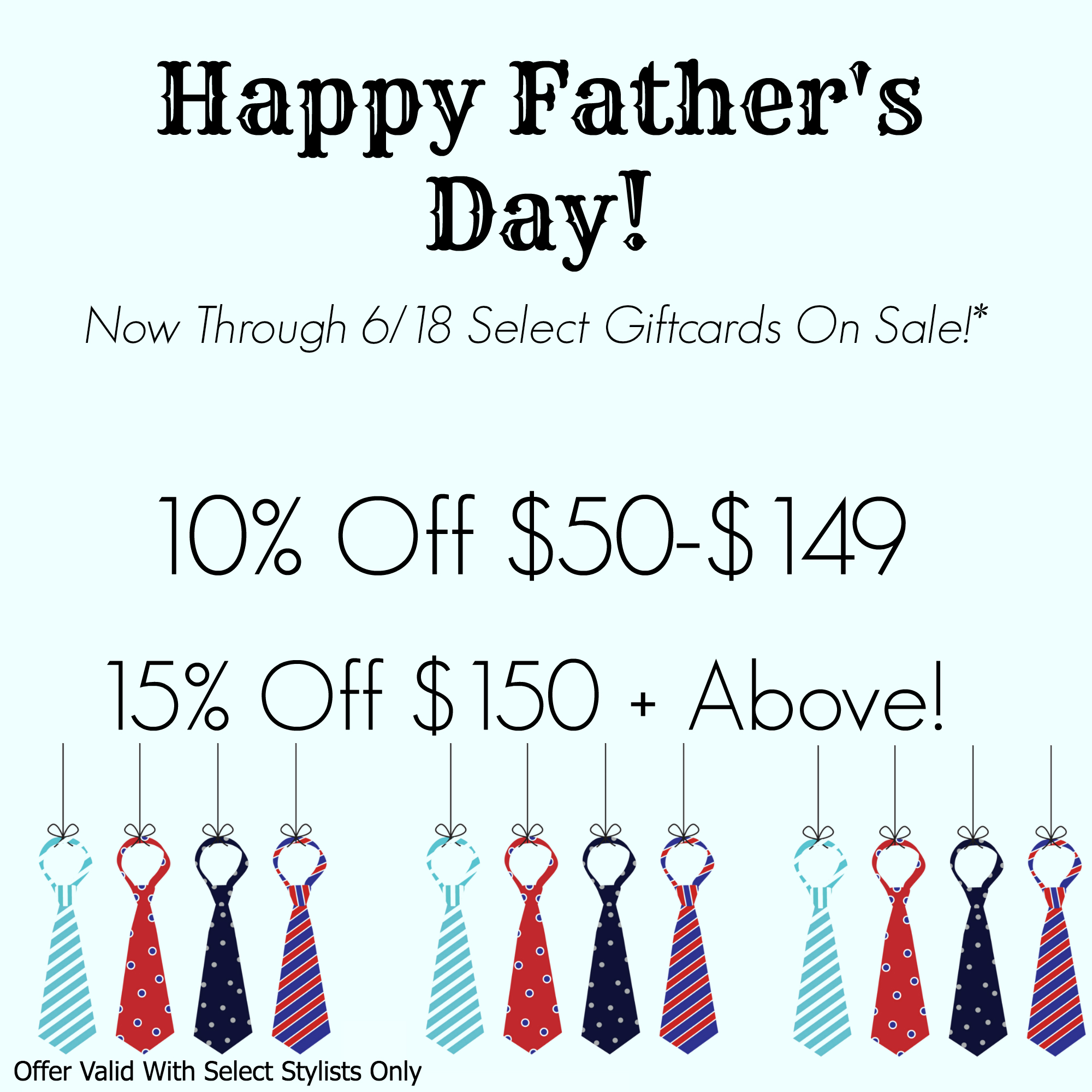Happy Father's Day Promotion