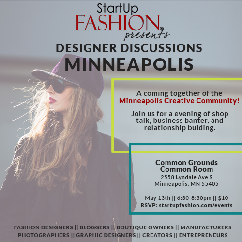 Please join us Next Wednesday for an evening of Design and Fashion Industry shop talk. This will be a great opportunity to meet fellow Minneapolis designers, bloggers, and creatives and learn about each others business. Come with questions or ideas of discussion, or just to hang out.     Questions? Please email me at info@daniellesakry.com    Link to the Eventbrite here:   Designer Discussions - Minneapolis