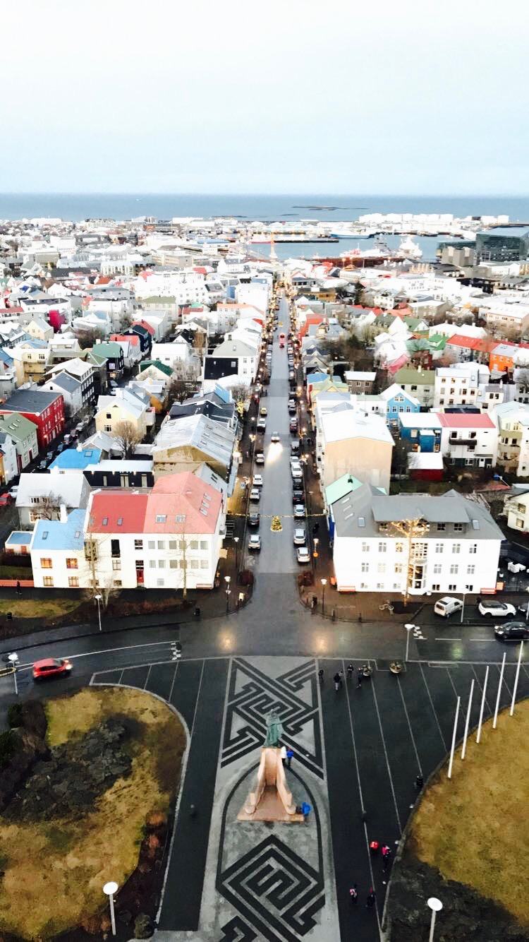 a view from the top of hallgrimskirkja