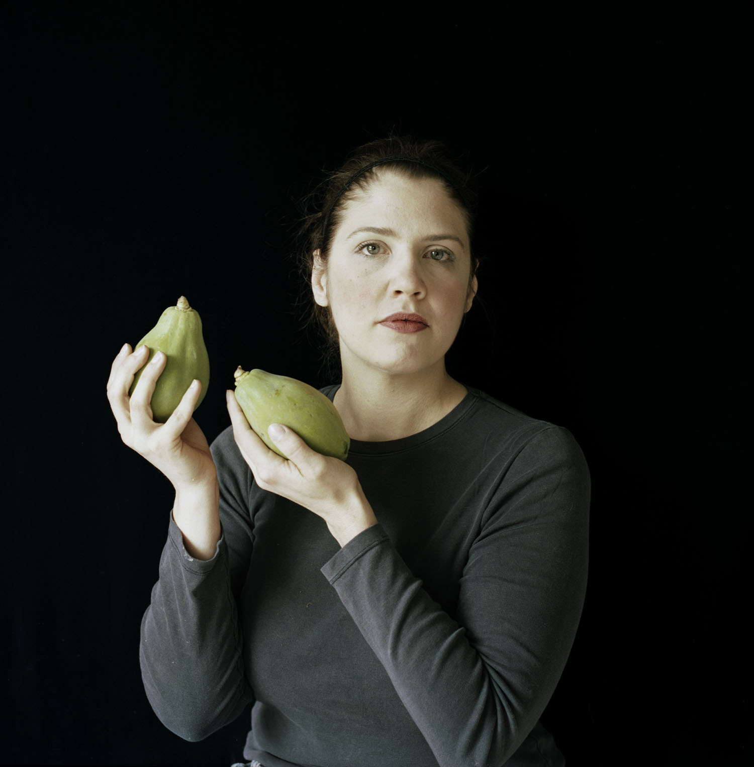 By Lydia Panas from the  Falling From Grace  series where I modeled for the piece, Papayas