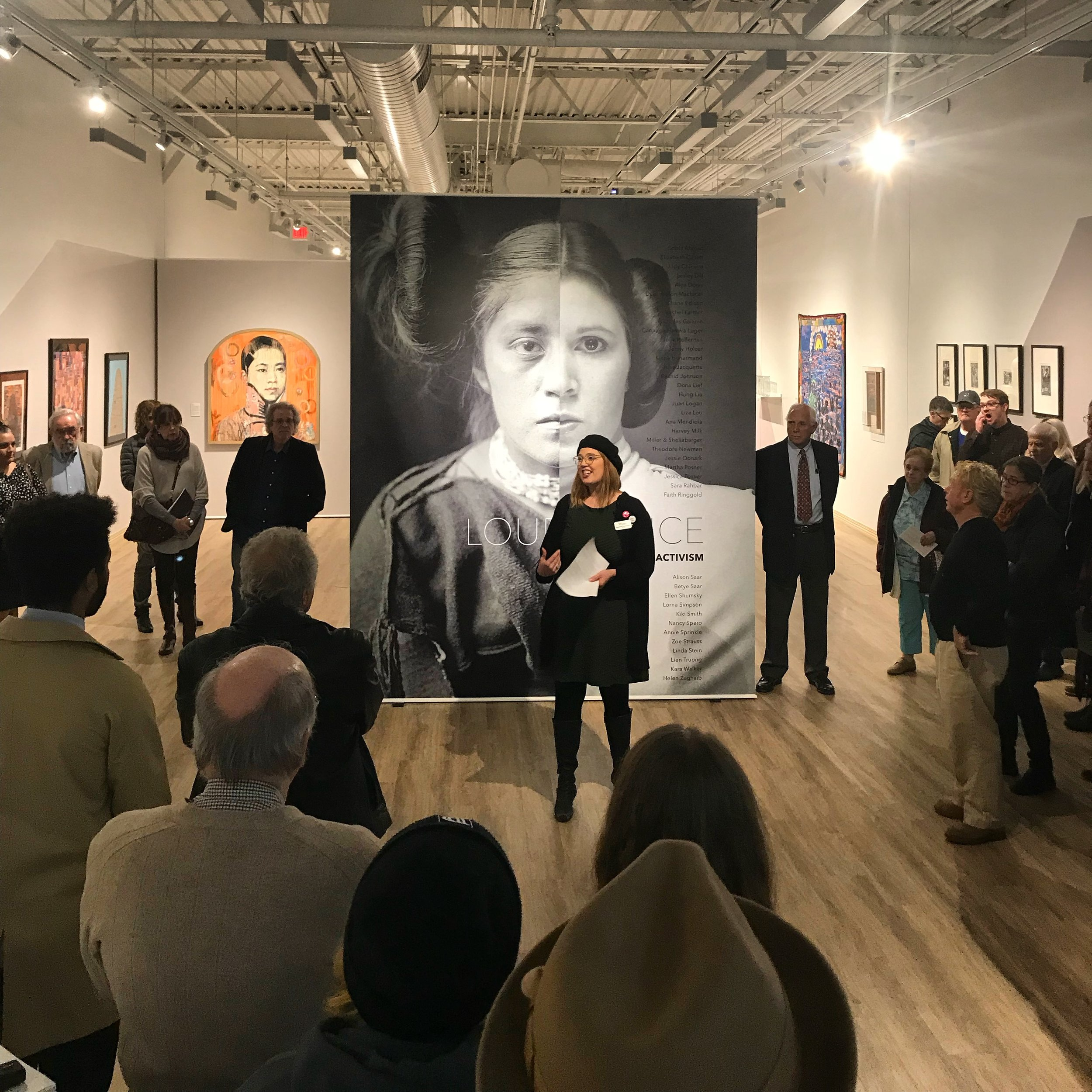 Opening Night Curator's Tour of Loud Silence: Expressions of Activism, Sordoni Gallery