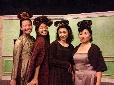 """Brown is in!"" (Ji-Yun Kim, Lindsay Hirata, Naomi Davis, Miyoko Sakatani)"