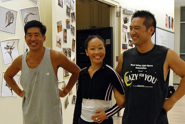 Ron with fellow PCLO/BBB alums Deedra Wong (Nightingale) and Edmond Kwong (Head Chef/Fisherman for the 2010 Staged Reading)