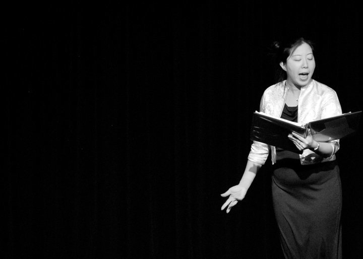 """Alexis   singing """"Running the Palace"""" for the 2010 staged reading. Unfortunately, the song was cut from the show."""