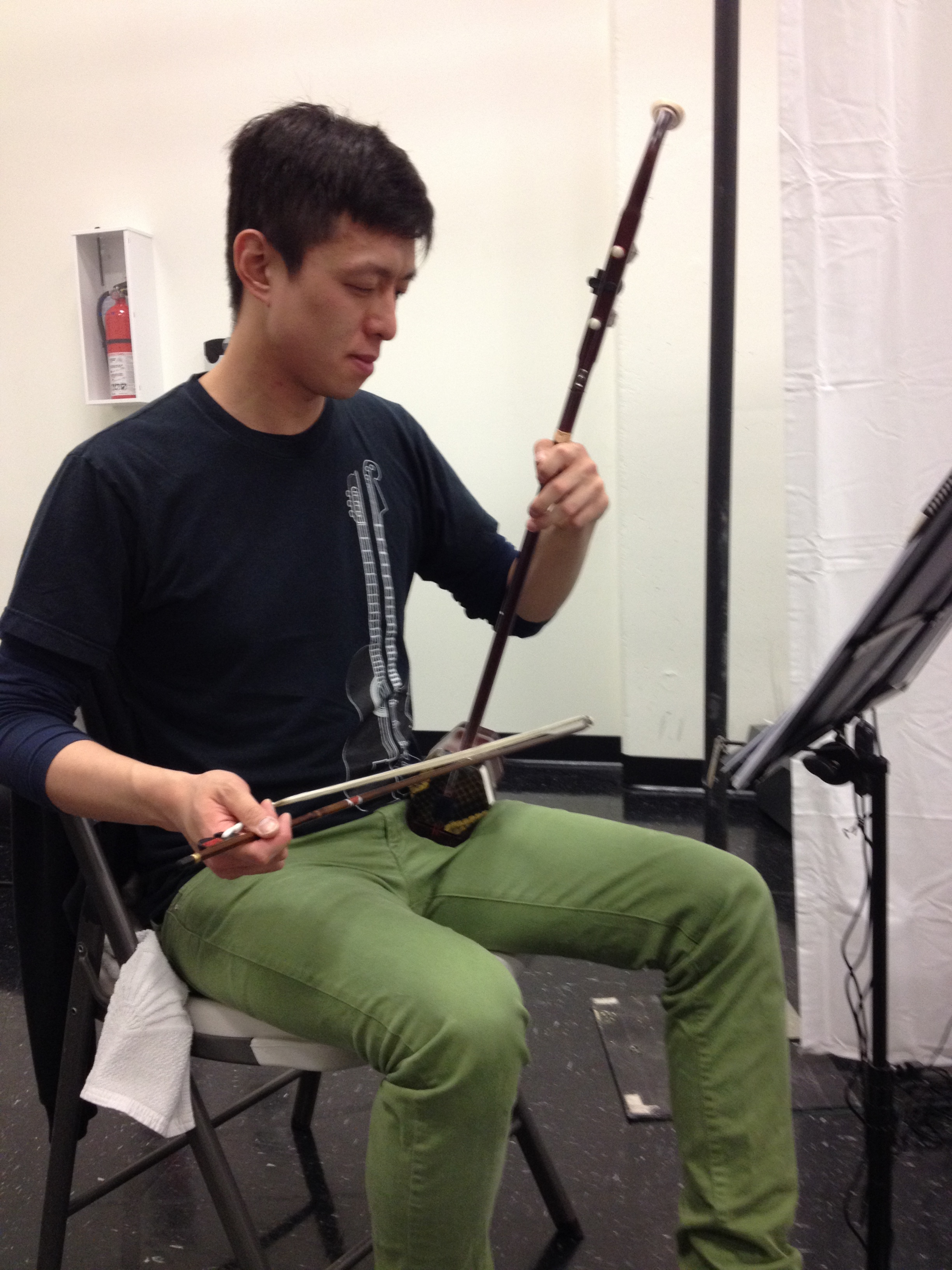 Brian Chow and his  erhu.