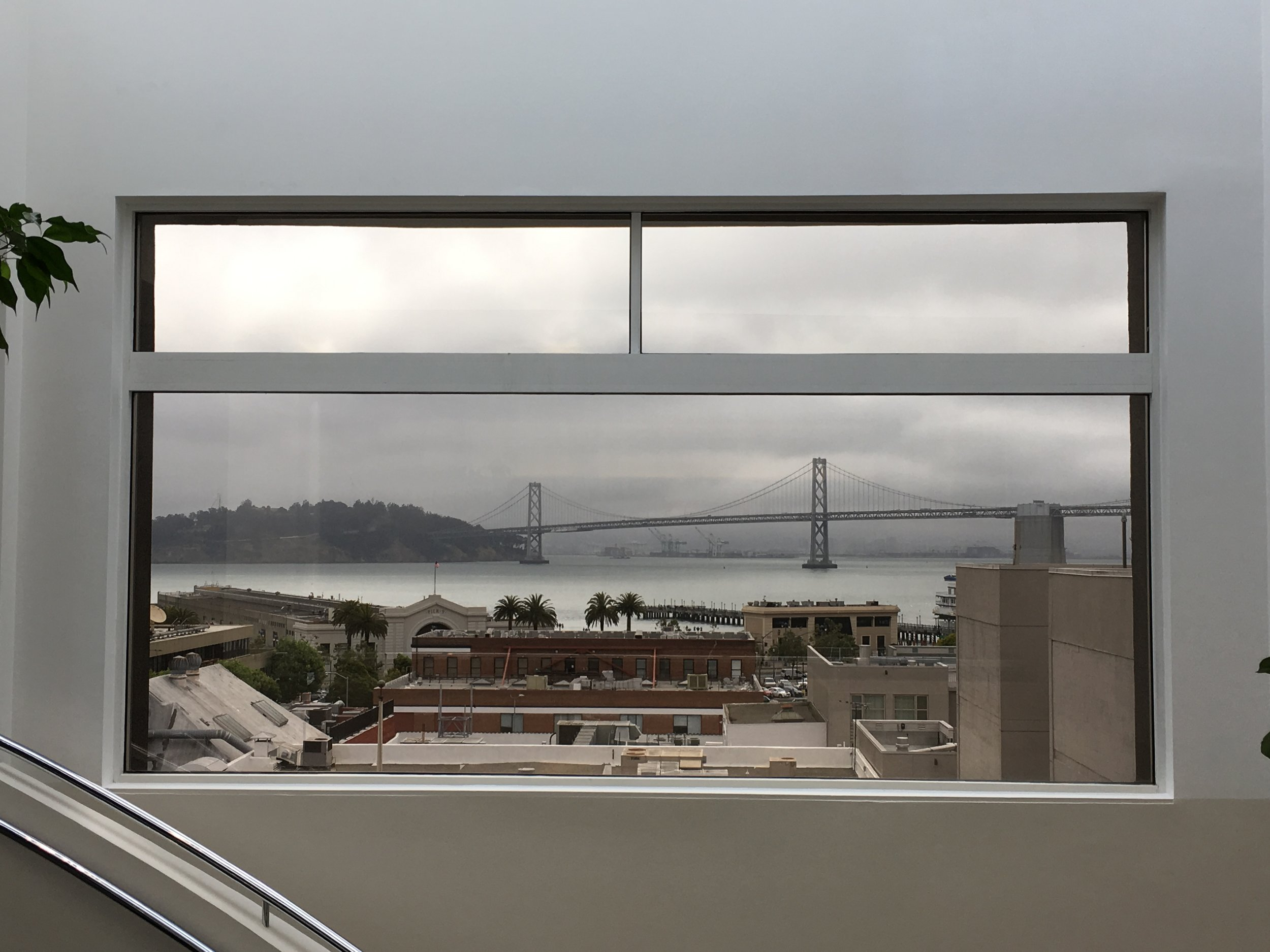 Beautiful view of the Bay Bridge from the Lobby.