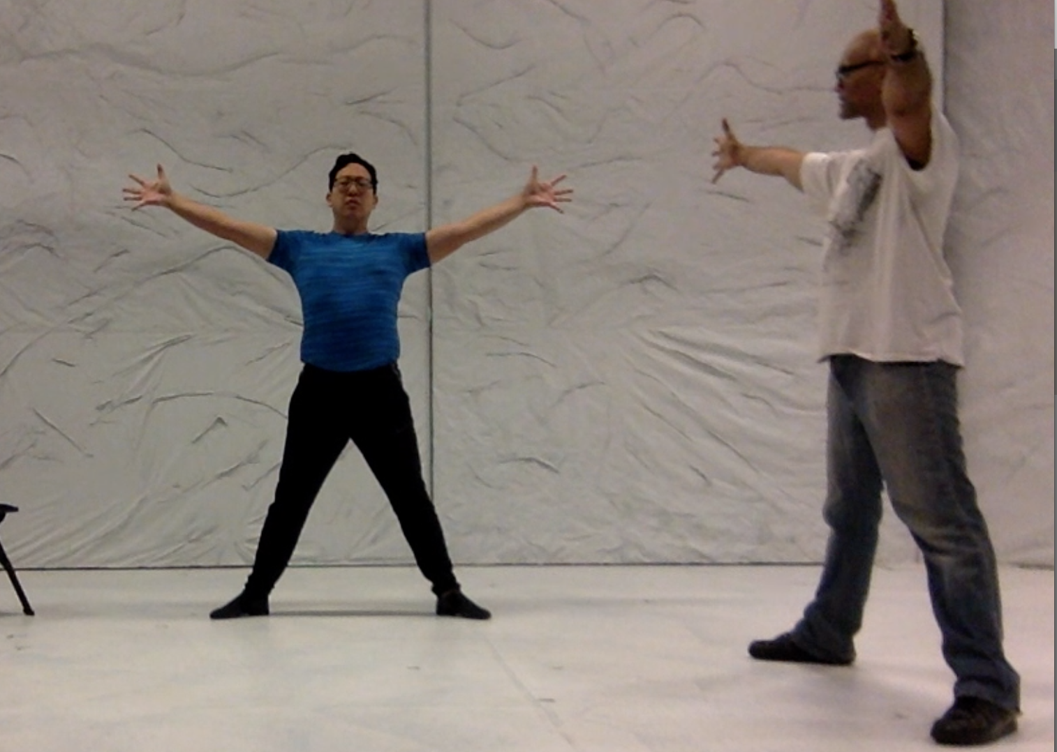 "Me, trying to be ""movement-y"" with Michael Mohammed."