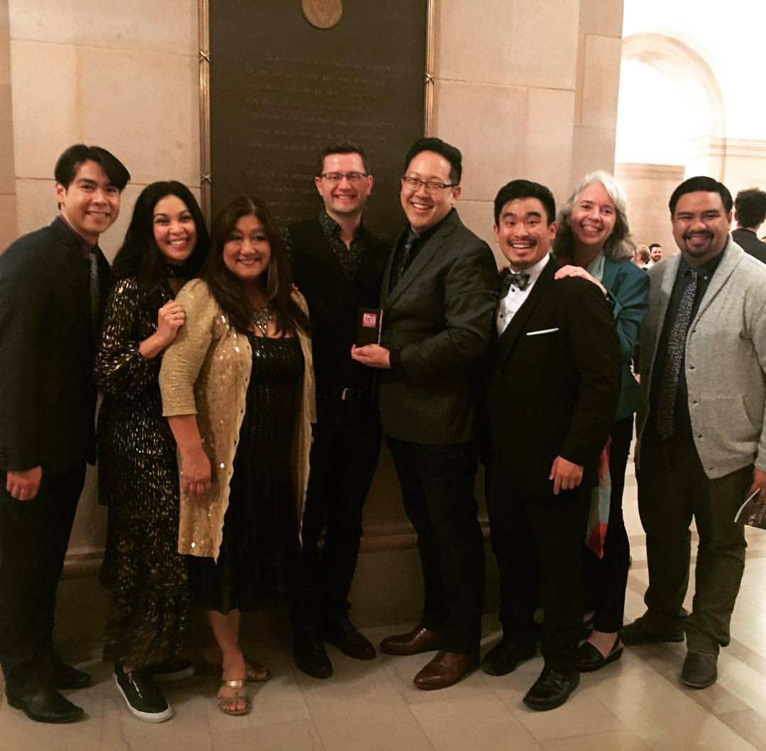 From L to R: Sean Fenton, Rinabeth Apostol, Kerry K. Carnahan, Stephen Workman, Min Kahng, Phil Wong, Leslie Martinson, Jeffrey Lo