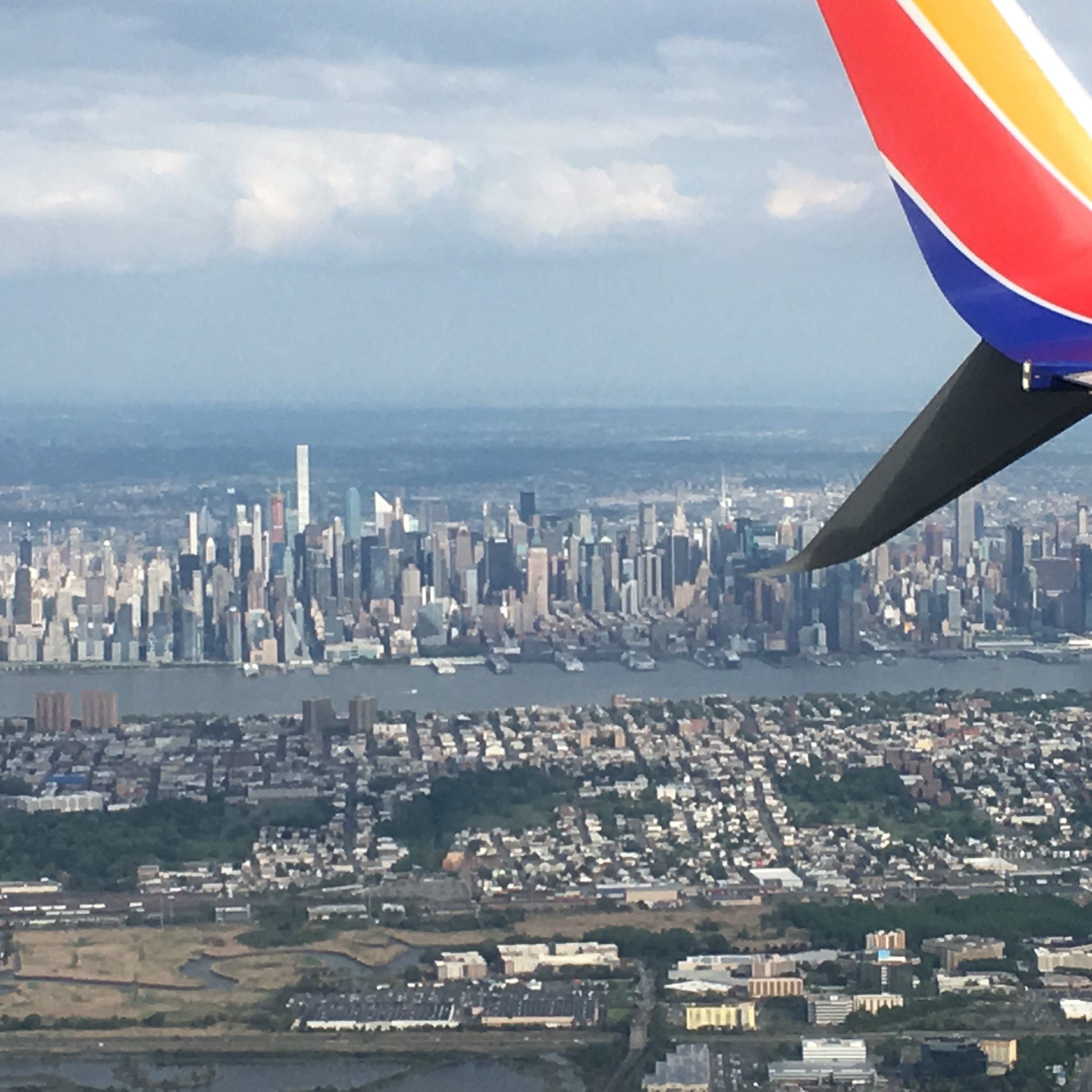 View of NYC from my plane