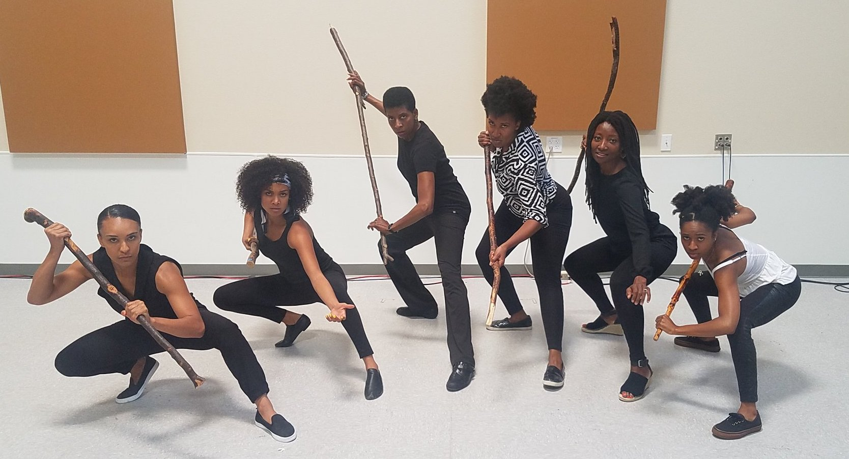 Our amazing Ground Floor Calafia actors (from L to R): Tristan Cunningham, Marissa Rudd, Velina Brown, Safiya Fredericks, Nkechi Emeruwa, Angel Adedokun.
