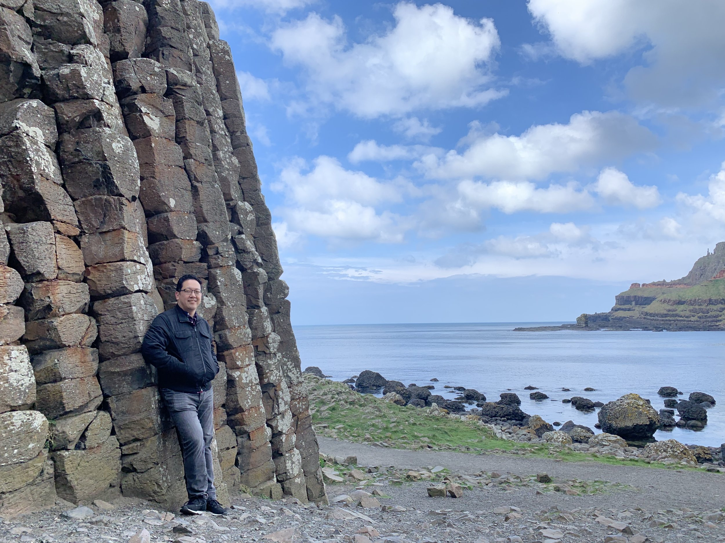 Me at Giant's Causeway, Northern Ireland. Not all the travel is for work. ;)