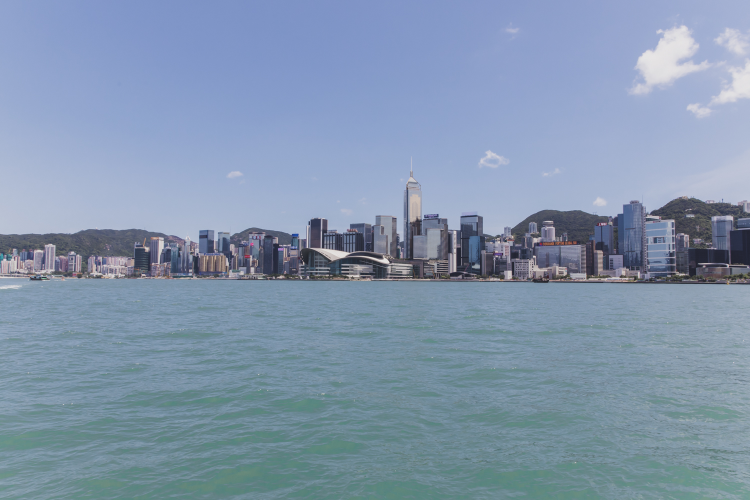 Hong Kong Island from Star Ferry. I recommend taking Star Ferry as much as possible because they are VERY cheap and run every 30 minutes.
