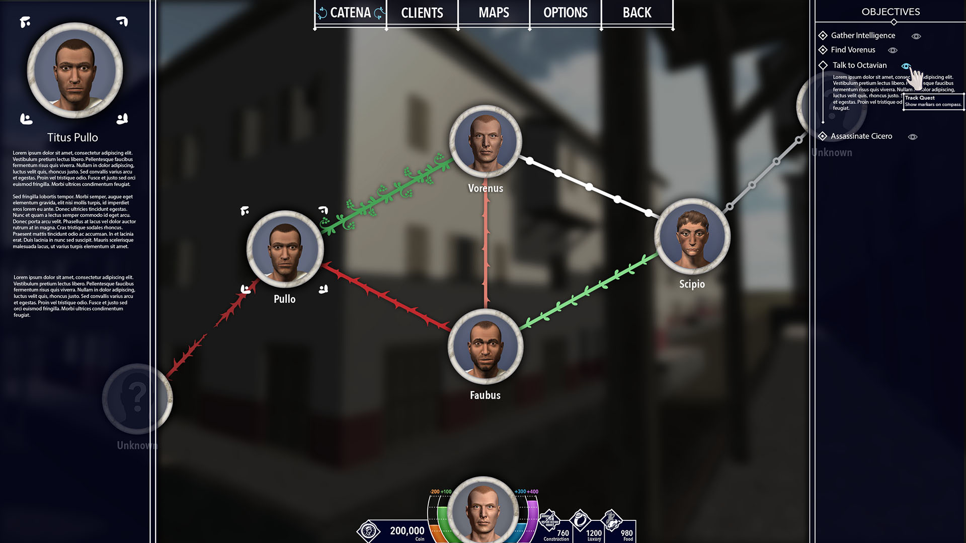 """The """"Catena"""" (Chain) system maps the social links between the player and other characters and they grow and deteriorate."""