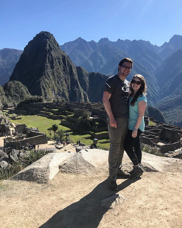 See that mountain behind us?! I climbed that today. One of the hardest things I've ever done, and also one of the most rewarding. More photos to come of our incredible trip to Machu Picchu!
