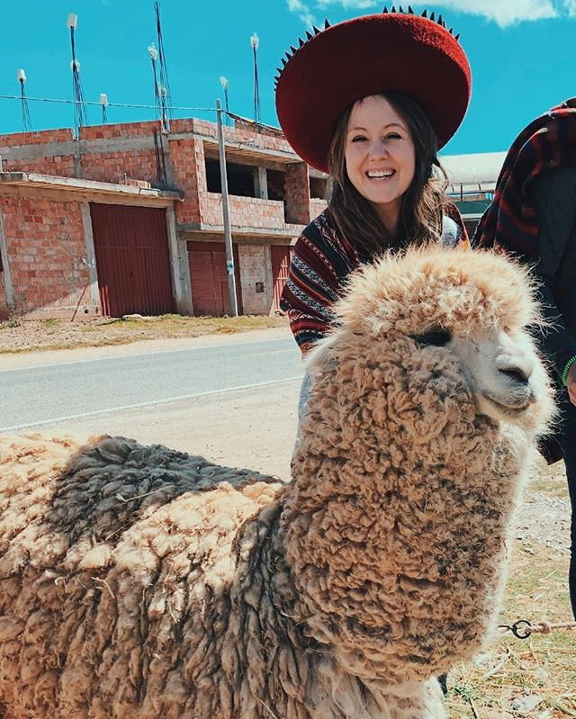 Back in Nashville and missing our adventures in Peru so much already. This was a definite highlight, being dressed by the locals after a weaving demonstration and posing with the sweetest llama there ever was.