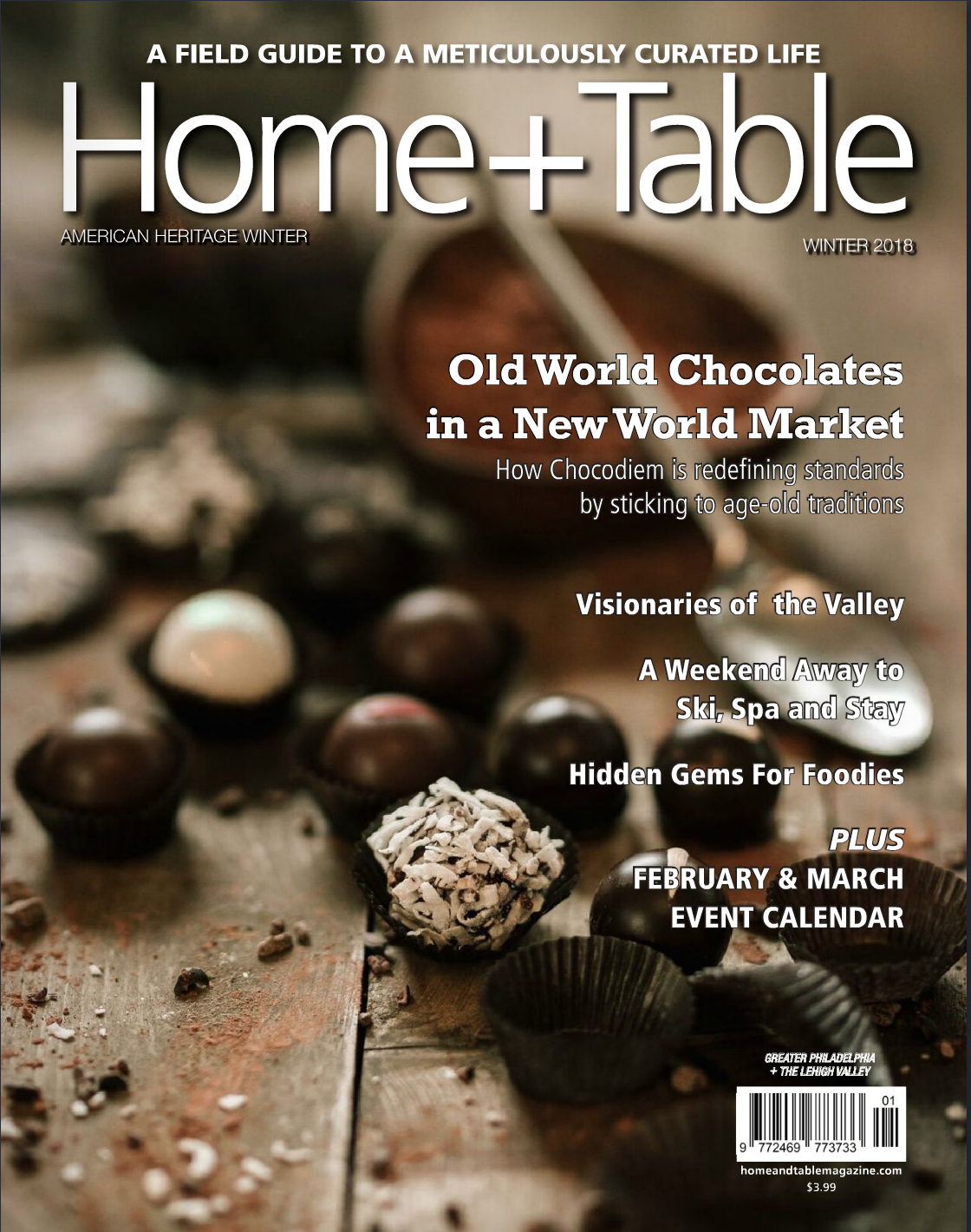 Winter 2018 issue of Home and Table Magazine