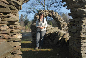 """""""Rock On, Stone artist Thea Alvin tackles the project of her life"""" by Lisa McCormack, Image by Glenn Callahan, Stowe Reporter Scene, Thursday, March 29, 2012"""
