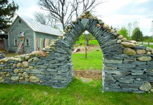 """""""Rock, Paper, Scissors, Morrisville sculpture Thea Alvin rolls out new project,"""" by Lisa McCormack, Image by Glenn Callahan, Stowe Reporter Scene, Thursday, May 22, 2014"""