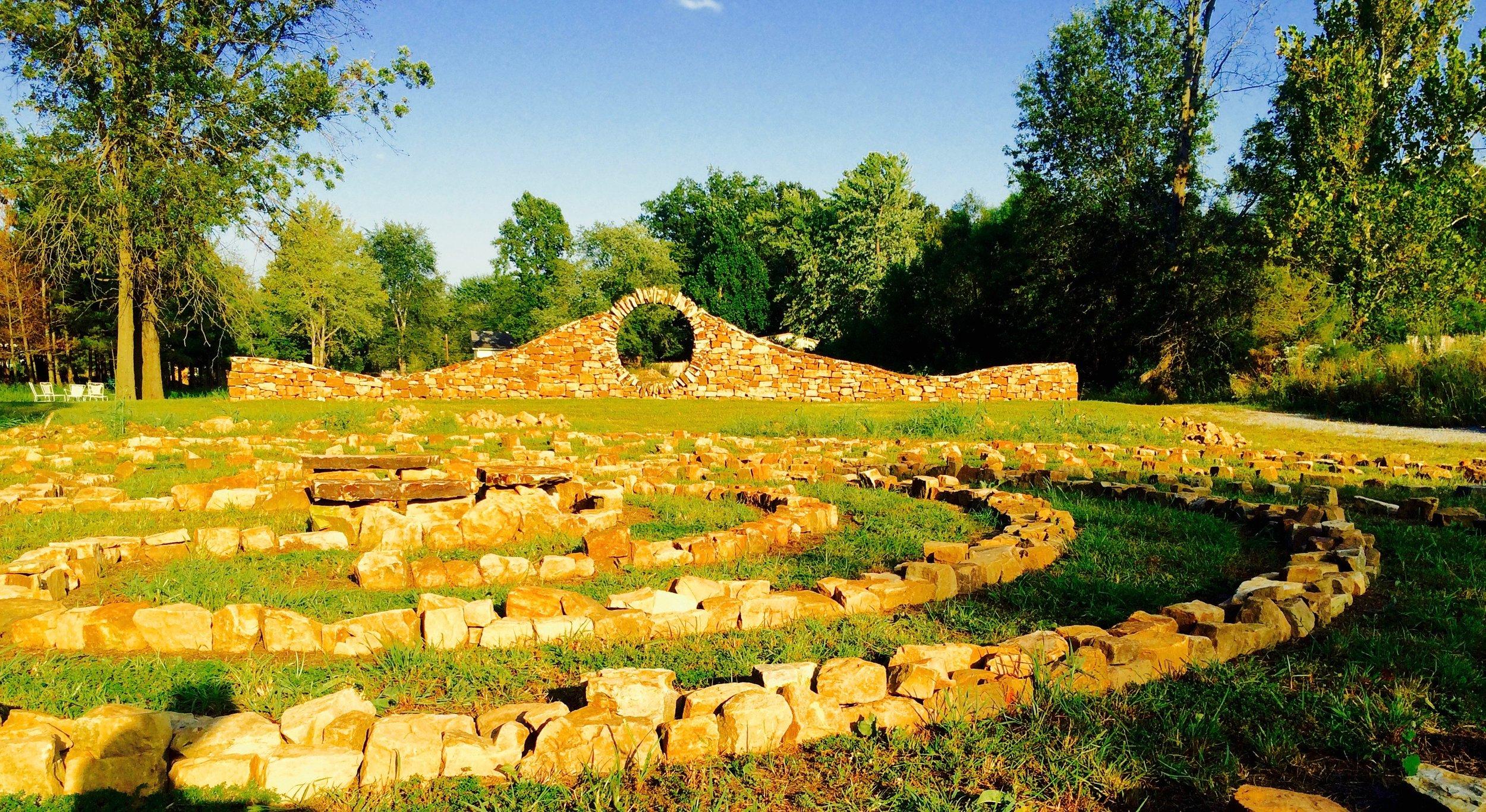 Marion Moon Gate, 2014,  Mandala Gardens , Marion, Illinois