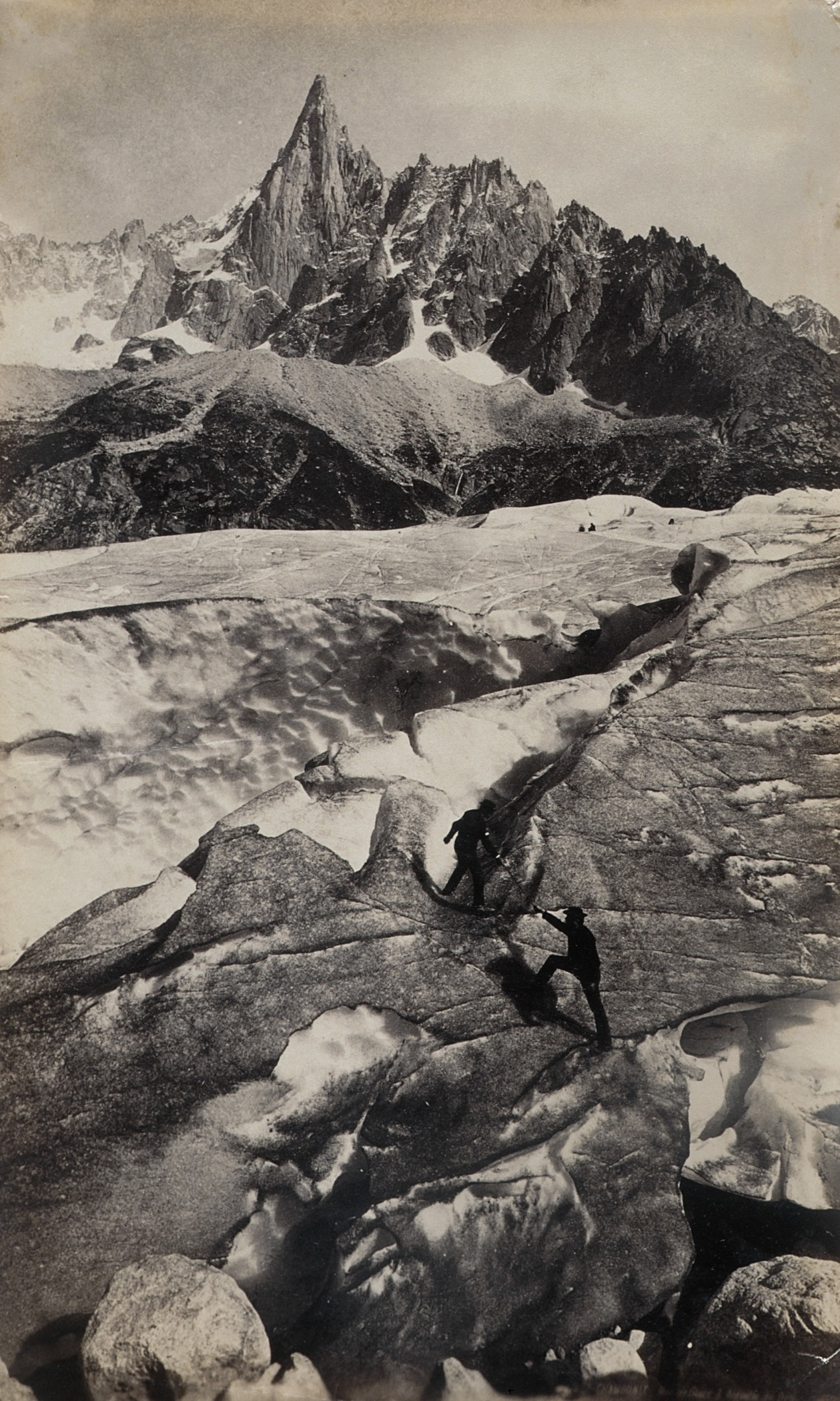 Chamonix, Mer de Glace d'Aignuille du Dru by Francis Frith (England, 1822-1898)