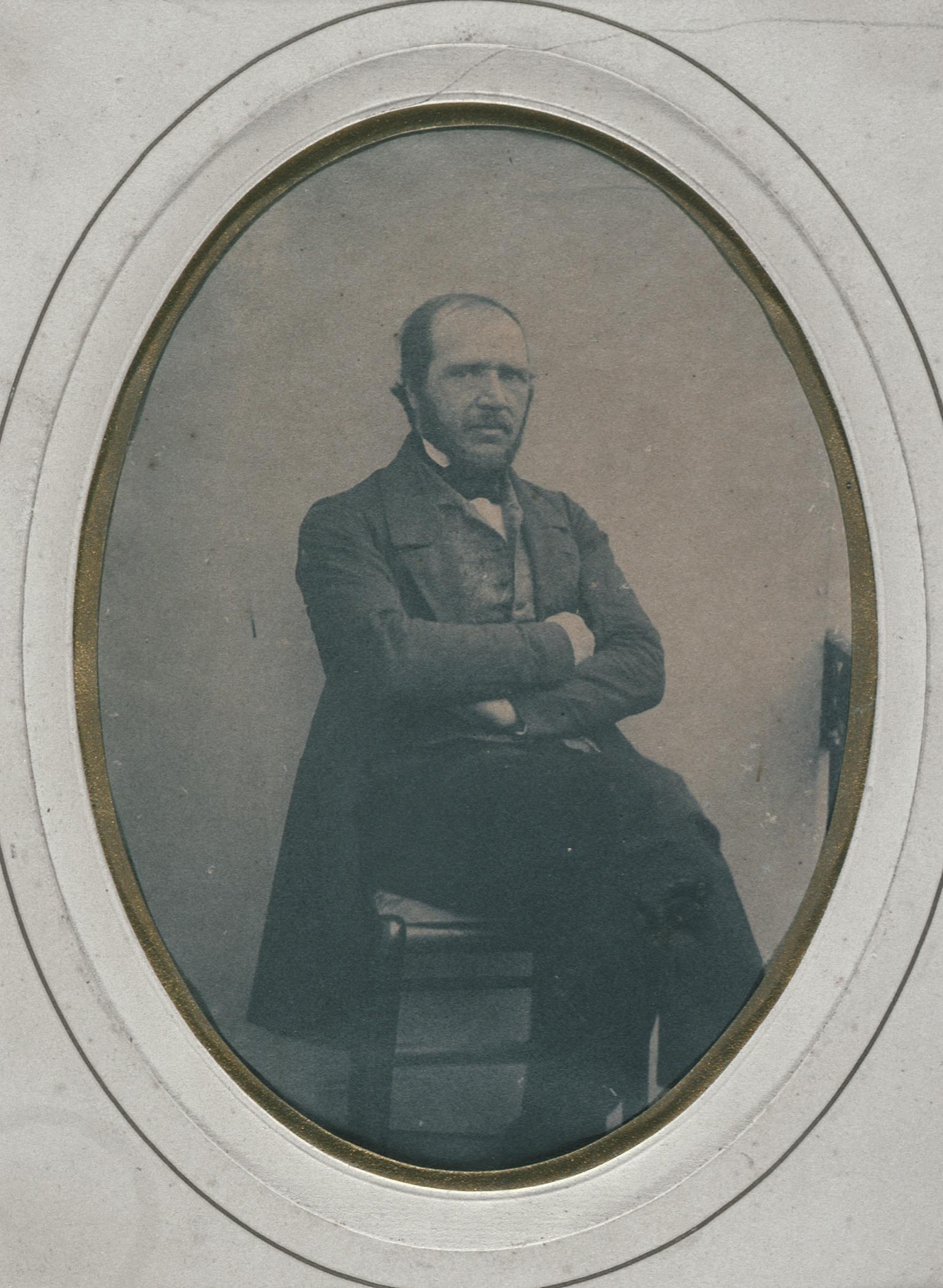Self-Portrait by Alphonse-Louis Poitlevin (France, 1819-1882)