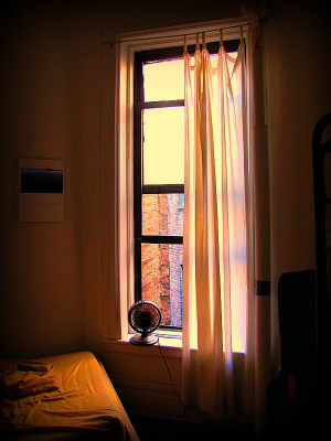 My first bedroom in New York City.