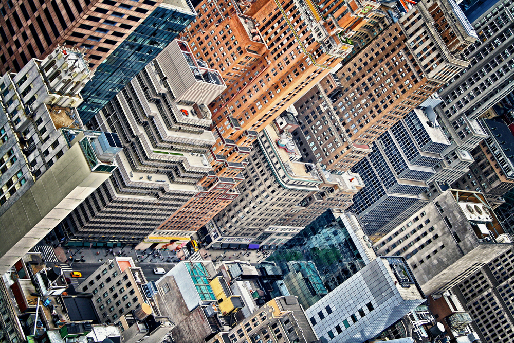 The many windows of Midtown Manhattan.