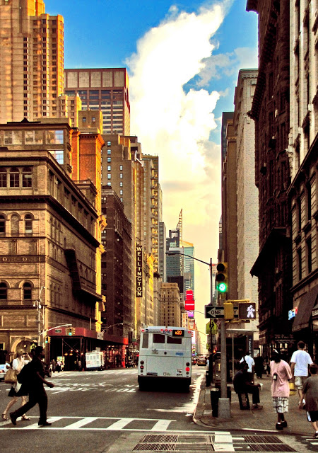 Seventh Avenue in Midtown on a hot July afternoon