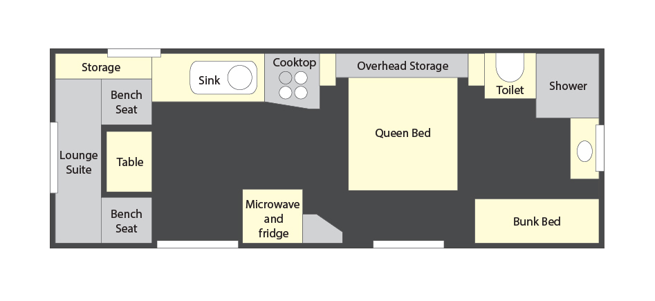 2450E with Queen Bed and Bunks