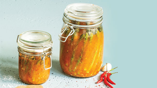 Asparagus Kimchi  - Photo by Clean Eating Magazine
