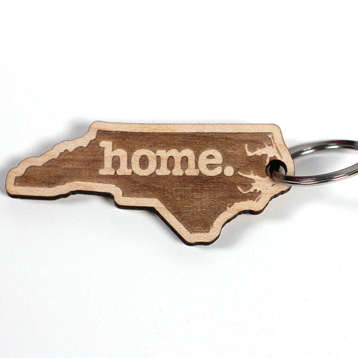 Home State Wooden Keychain