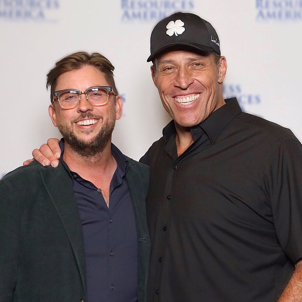 Derrick Grahn with Tony Robbins