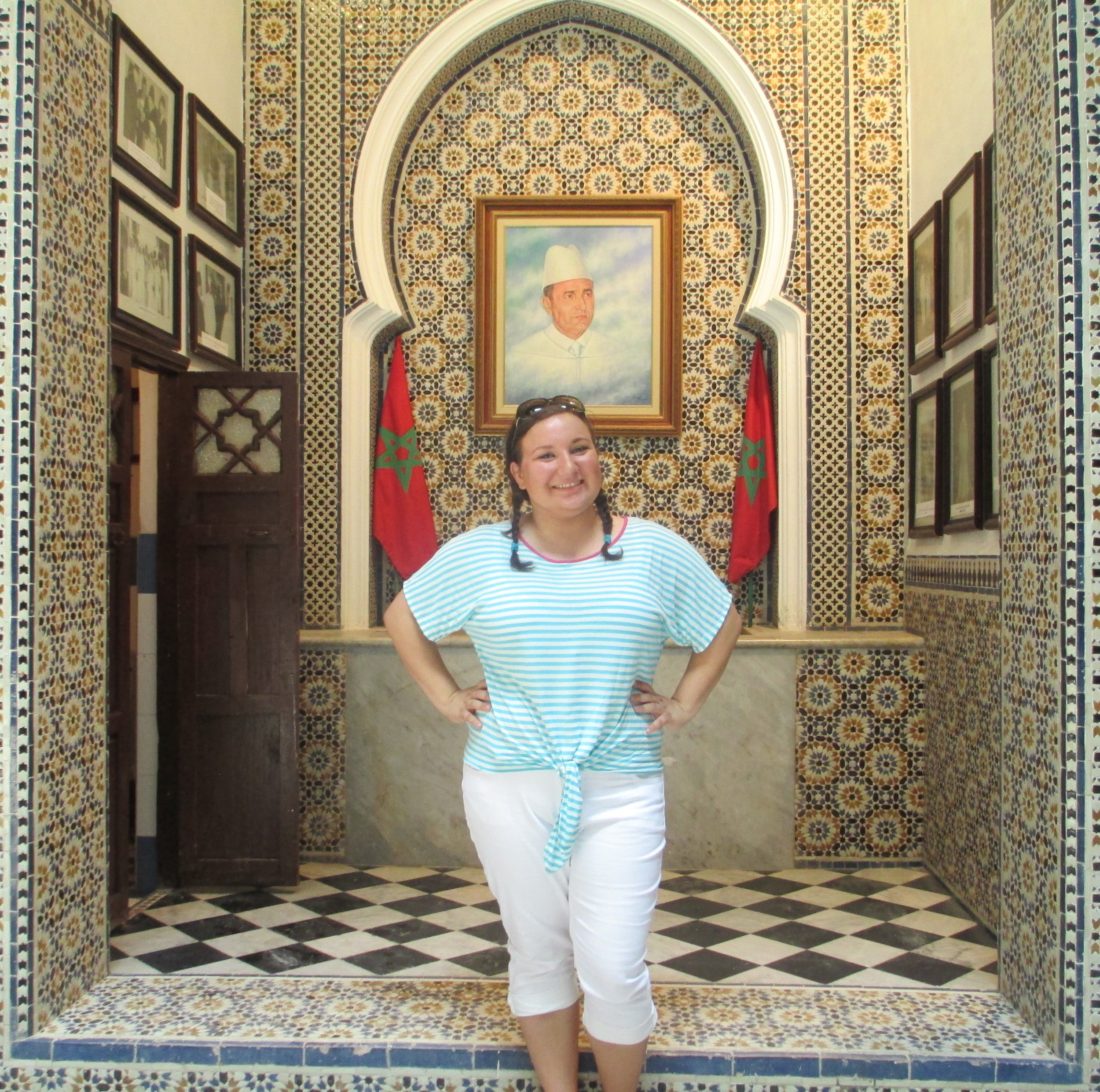 A photograph of me visiting a museum in Tetouan, Morocco.