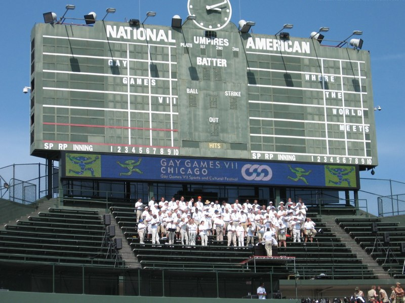 Wrigley Scoreboard & Choir