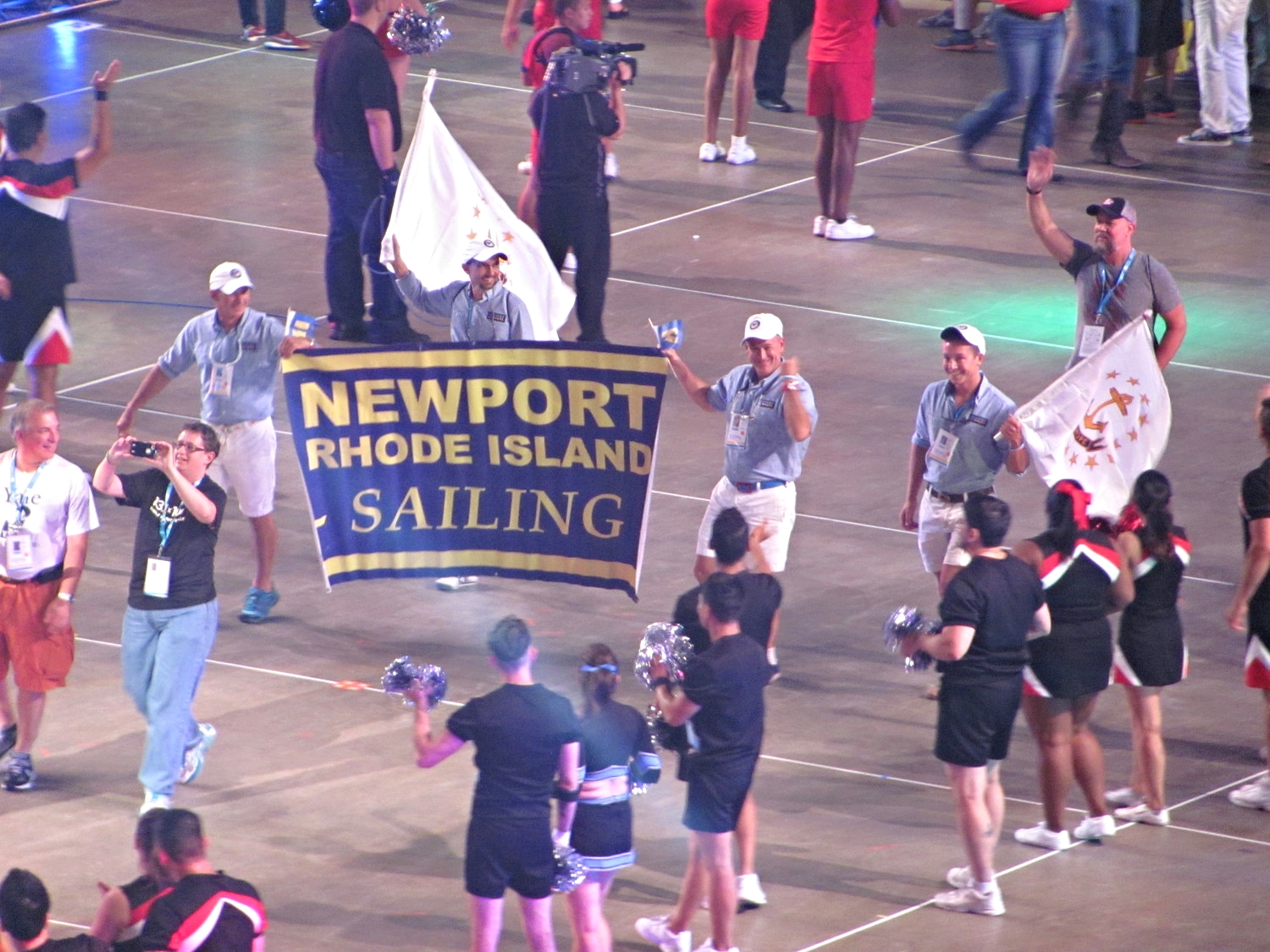 Team Newport marches in