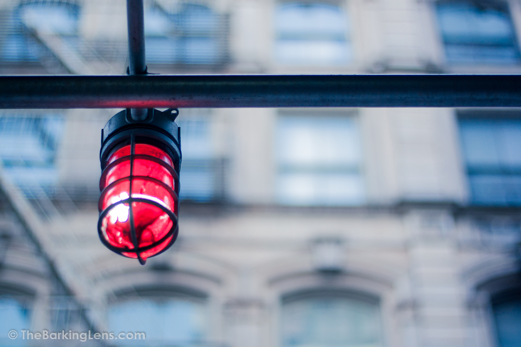 Red Light on a Post
