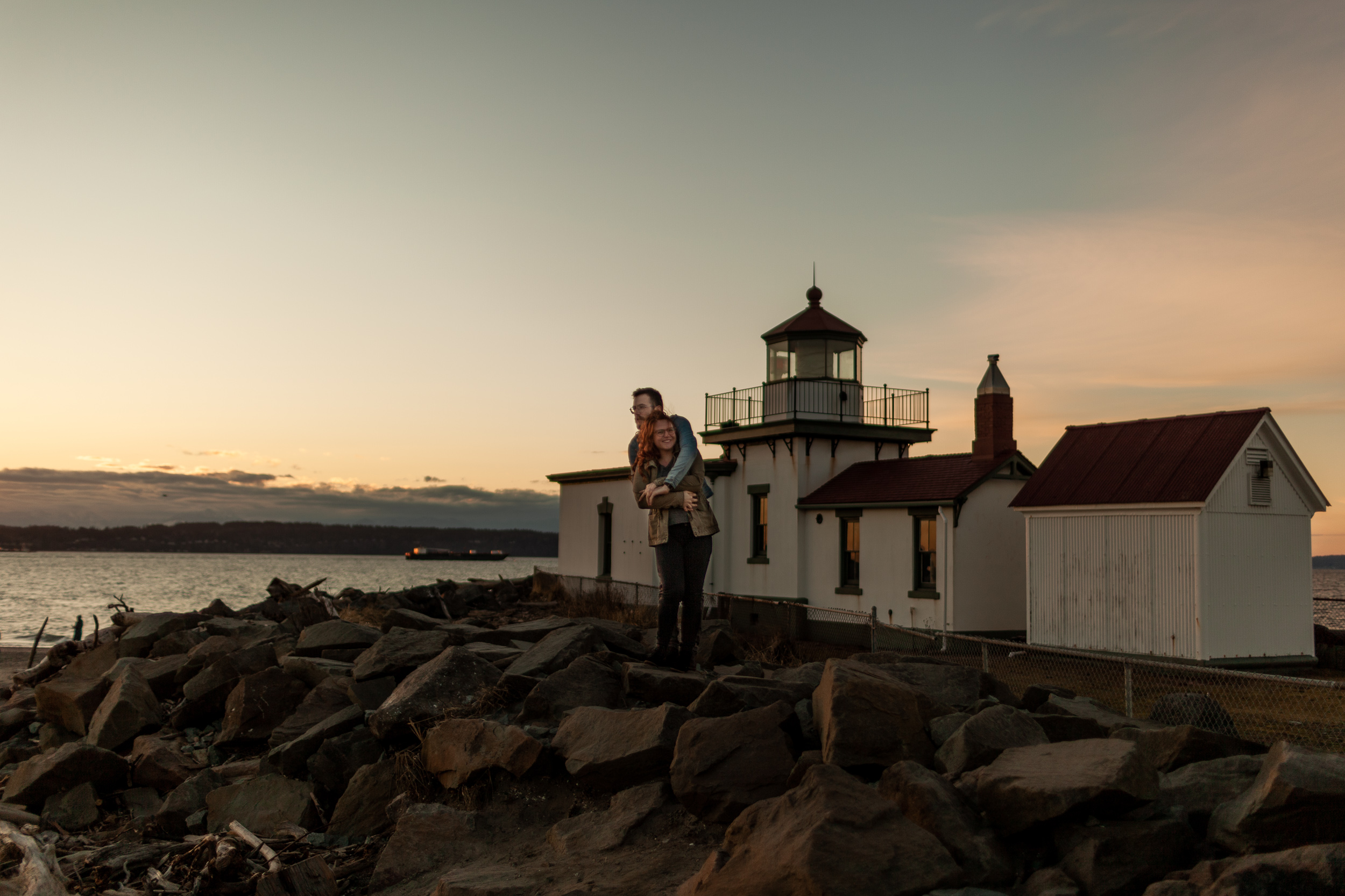 Talissa and Trevor Grindle Discovery Park Seattle Washington