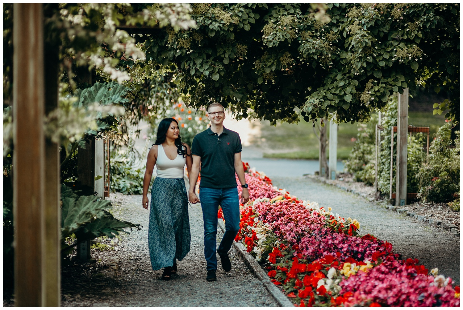Jaynah and Kevin Point Defiance Rose Garden Owen Beach Tacoma Washington Engagement Session (1).jpg