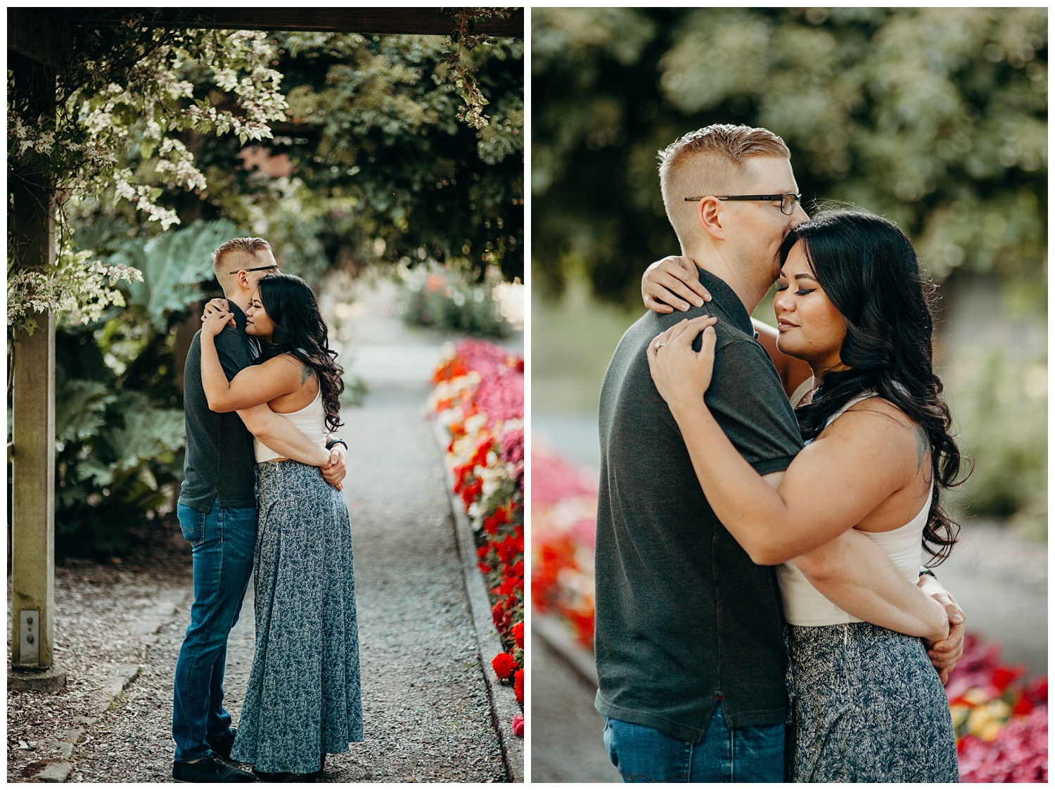 Jaynah and Kevin Point Defiance Rose Garden Owen Beach Tacoma Washington Engagement Session (3).jpg