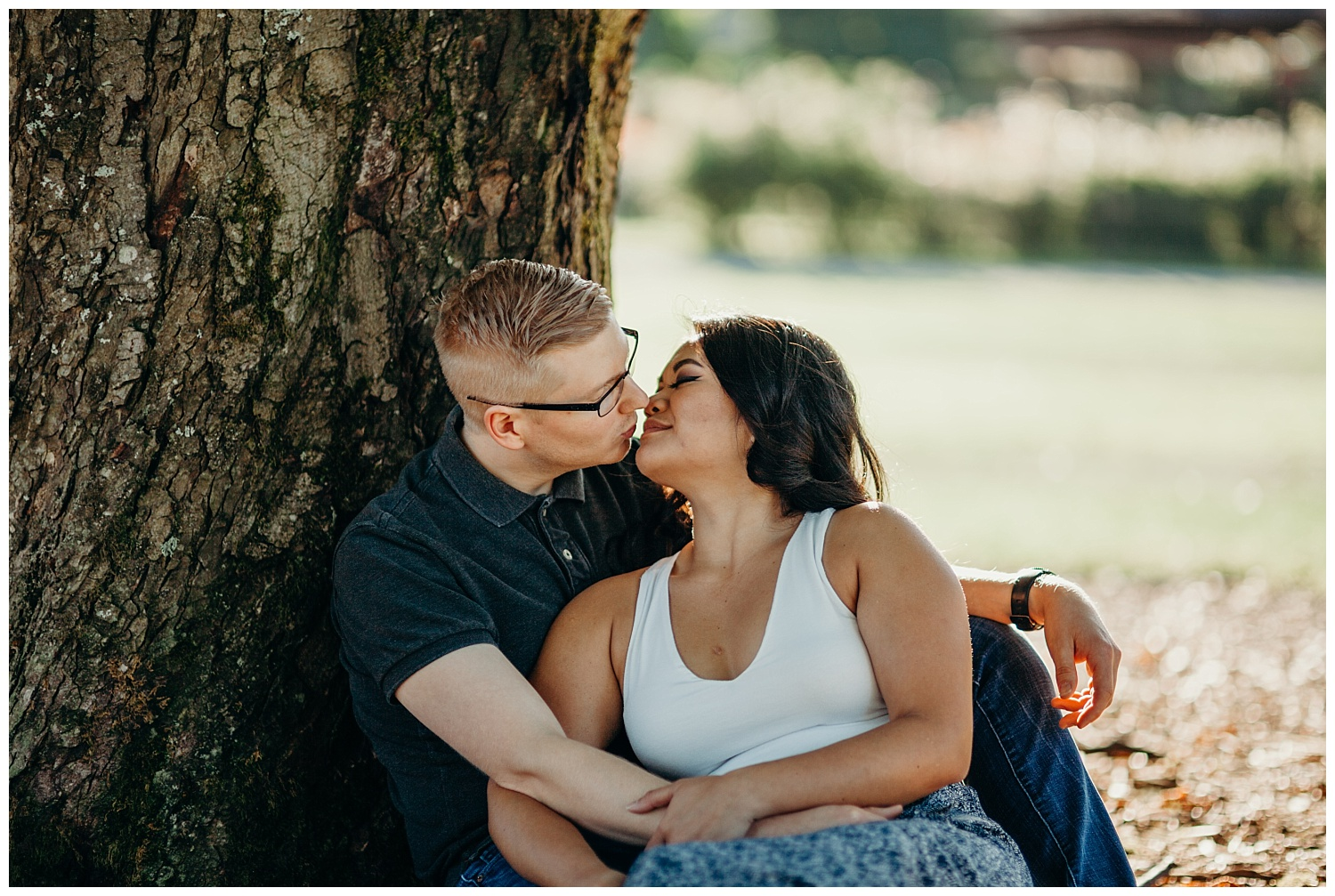 Jaynah and Kevin Point Defiance Rose Garden Owen Beach Tacoma Washington Engagement Session (7).jpg