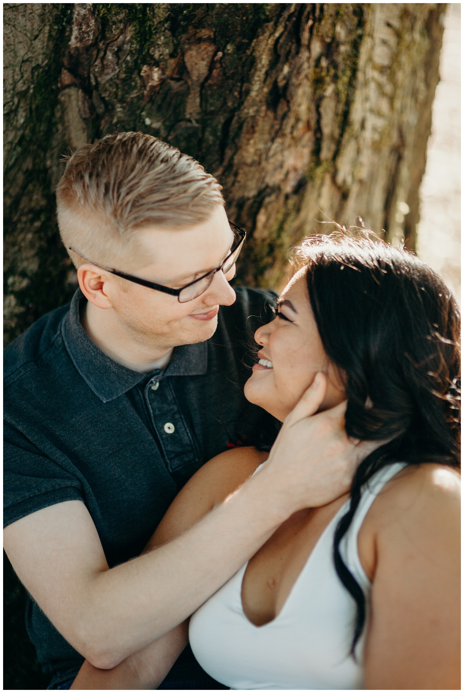 Jaynah and Kevin Point Defiance Rose Garden Owen Beach Tacoma Washington Engagement Session (9).jpg