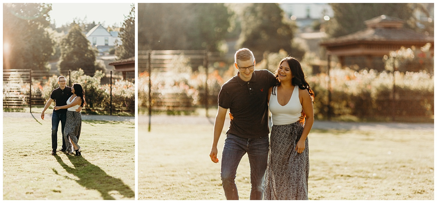 Jaynah and Kevin Point Defiance Rose Garden Owen Beach Tacoma Washington Engagement Session (12).jpg