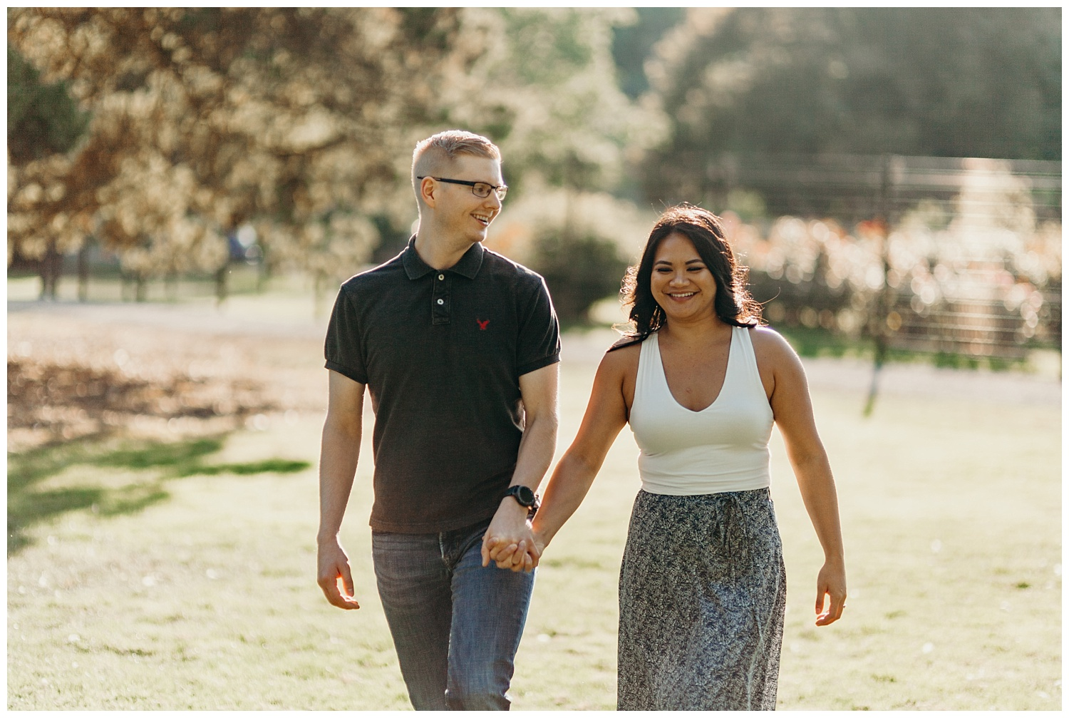 Jaynah and Kevin Point Defiance Rose Garden Owen Beach Tacoma Washington Engagement Session (11).jpg